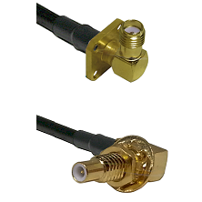 SMA 4 Hole Right Angle Female on RG58C/U to SLB Male Bulkhead Cable Assembly