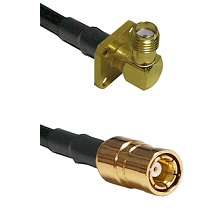 SMA 4 Hole Right Angle Female on RG58C/U to SMB Female Cable Assembly