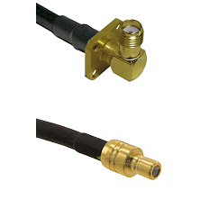 SMA 4 Hole Right Angle Female on RG58C/U to SMB Male Cable Assembly