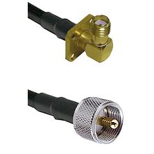 SMA 4 Hole Right Angle Female on RG58C/U to UHF Male Cable Assembly