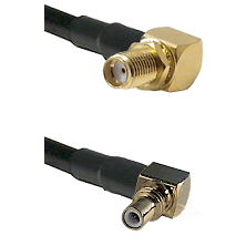 SMA Right Angle Female Bulkhead on LMR200 to SSMC Right Angle Male Cable Assembly
