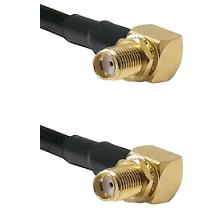 SMA Right Angle Female Bulkhead Connector On LMR-240UF UltraFlex To SMA Reverse Thread Right Angle F