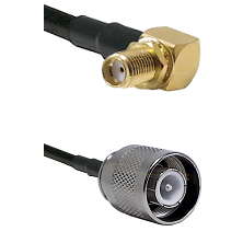 SMA Right Angle Female Bulkhead Connector On LMR-240UF UltraFlex To SC Male Connector Coaxial Cable