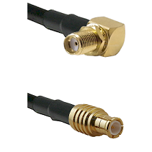 SMA Right Angle Female Bulkhead on RG142 to MCX Male Cable Assembly