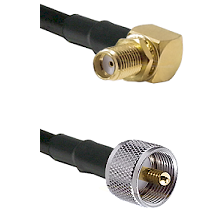 SMA Right Angle Female Bulkhead on RG393 to UHF Male Cable Assembly