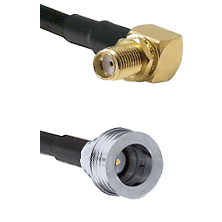 SMA Right Angle Female Bulkhead on RG58C/U to QN Male Cable Assembly