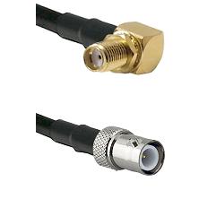 SMA Right Angle Female Bulkhead on RG58C/U to BNC Reverse Polarity Female Cable Assembly