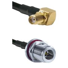 SMA Right Angle Female Bulkhead on RG58C/U to N Reverse Polarity Female Bulkhead Coaxial Cable Assem