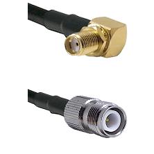 SMA Right Angle Female Bulkhead on RG58C/U to TNC Reverse Polarity Female Cable Assembly