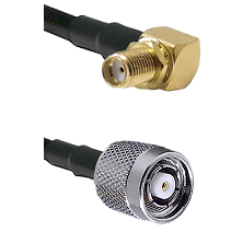 SMA Right Angle Female Bulkhead on RG58C/U to TNC Reverse Polarity Male Cable Assembly