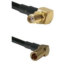 SMA Right Angle Female Bulkhead on RG58C/U to SLB Right Angle Female Cable Assembly