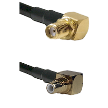 SMA Right Angle Female Bulkhead on RG58C/U to SMC Right Angle Male Cable Assembly