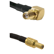 SMA Right Angle Female Bulkhead on RG58C/U to SLB Male Cable Assembly