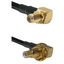 SMA Right Angle Female Bulkhead on RG58C/U to SLB Male Bulkhead Cable Assembly