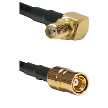 SMA Right Angle Female Bulkhead on RG58C/U to SMB Female Cable Assembly