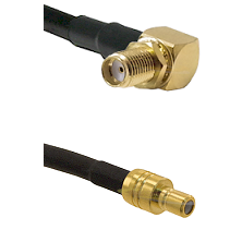 SMA Right Angle Female Bulkhead on RG58C/U to SMB Male Cable Assembly