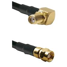SMA Right Angle Female Bulkhead on RG58C/U to SMC Male Cable Assembly
