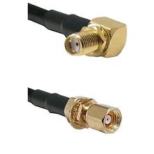SMA Right Angle Female Bulkhead on RG58C/U to SMC Female Bulkhead Cable Assembly