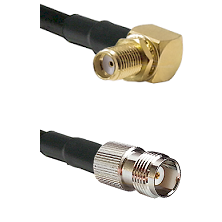 SMA Right Angle Female Bulkhead on RG58C/U to TNC Female Cable Assembly