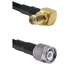 SMA Right Angle Female Bulkhead on RG58C/U to TNC Male Cable Assembly