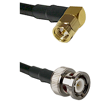 SMA Right Angle Male on LMR100 to BNC Male Cable Assembly