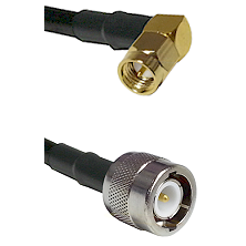 SMA Right Angle Male On LMR100 to C Male Cable Assembly