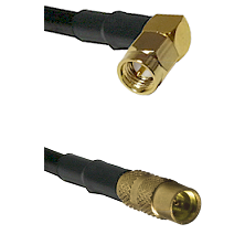 SMA Right Angle Male On LMR100 to MMCX Female Cable Assembly