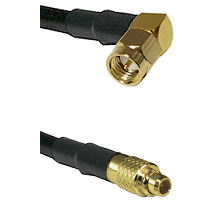 SMA Right Angle Male On LMR100 to MMCX Male Cable Assembly