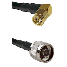 SMA Right Angle Male on LMR100 to N Male Cable Assembly