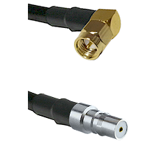 SMA Right Angle Male on LMR100 to QMA Female Cable Assembly
