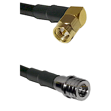 SMA Right Angle Male on LMR100 to QMA Male Cable Assembly