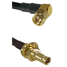 SMA Right Angle Male on LMR-195-UF UltraFlex to 10/23 Female Bulkhead Cable Assembly