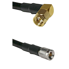 SMA Right Angle Male on LMR-195-UF UltraFlex to 10/23 Male Cable Assembly