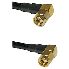 SMA Right Angle Male On LMR-195-UF UltraFlex to SMA Reverse Polarity Right Angle Male Coaxial Cable