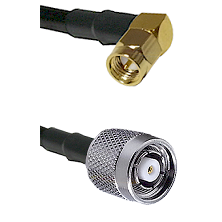 SMA Right Angle Male on LMR-195-UF UltraFlex to TNC Reverse Polarity Male Cable Assembly