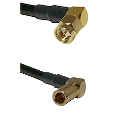 SMA Right Angle Male on LMR-195-UF UltraFlex to SLB Right Angle Female Cable Assembly