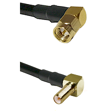 SMA Right Angle Male on LMR-195-UF UltraFlex to SLB Right Angle Male Cable Assembly