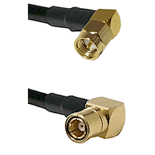 SMA Right Angle Male on LMR-195-UF UltraFlex to SMB Right Angle Female Cable Assembly