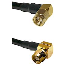 SMA Right Angle Male on LMR-195-UF UltraFlex to SMC Right Angle Female Cable Assembly