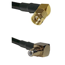 SMA Right Angle Male on LMR-195-UF UltraFlex to SMC Right Angle Male Cable Assembly