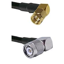 Right Angle SMA Male To Right Angle TNC Male Connectors LMR-195-UF UltraFlex Custom Coaxial C