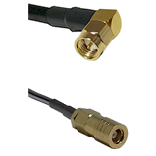 SMA Right Angle Male on LMR-195-UF UltraFlex to SLB Female Cable Assembly