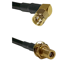 SMA Right Angle Male on LMR-195-UF UltraFlex to SLB Female Bulkhead Cable Assembly
