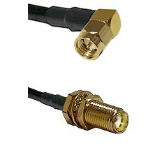Right Angle SMA Male To SMA Bulk Head Female Connectors LMR-195-UF UltraFlex Custom Coaxial C