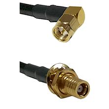 Right Angle SMA Male To SMB Female Bulk Head Connectors LMR-195-UF UltraFlex Custom Coaxial C