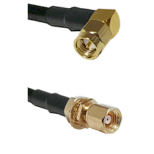 SMA Right Angle Male on LMR-195-UF UltraFlex to SMC Female Bulkhead Cable Assembly