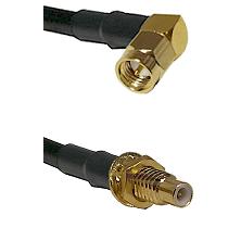 SMA Right Angle Male on LMR-195-UF UltraFlex to SMC Male Bulkhead Cable Assembly