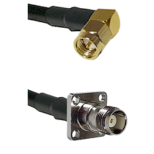 SMA Right Angle Male on LMR-195-UF UltraFlex to TNC 4 Hole Female Cable Assembly