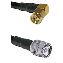 Right Angle SMA Male To TNC Male Connectors LMR-195-UF UltraFlex Cable Assembly