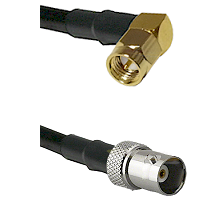 SMA Right Angle Male on LMR200 UltraFlex to BNC Female Cable Assembly